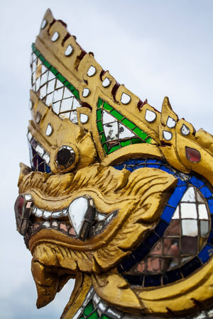 King of naga,The thai art sculpture photo