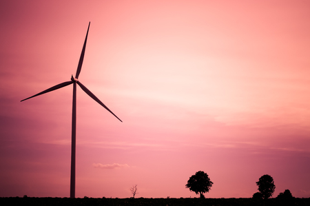 windturbine: The wind turbine generator,the renewable energy Stock Photo