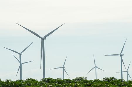 wind vane: The wind turbine generator,the renewable energy Stock Photo