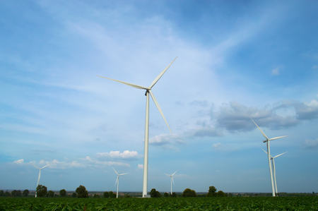 The wind turbine generator,the renewable energy photo