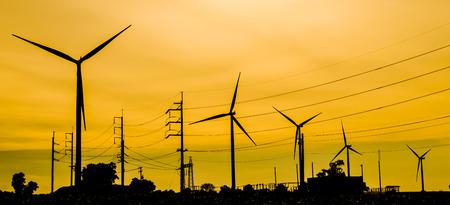 The wind turbine generator,the renewable energy photo