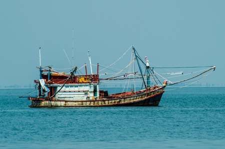 The coast fishery boat in the southern of thailand