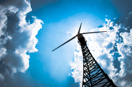 The wind turbine generator,the renewable energy Standard-Bild