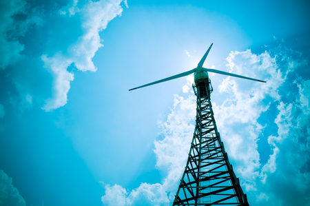 vane: The wind turbine generator Stock Photo