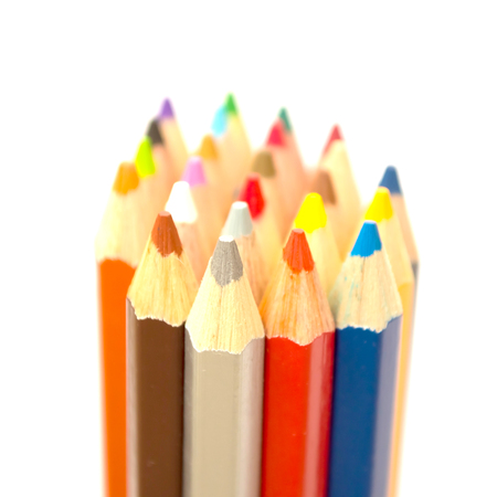 coloured pencil: The coloured pencil on the white background Stock Photo