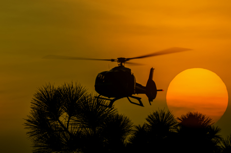 patrol: The patrol helicopter flying in the sky