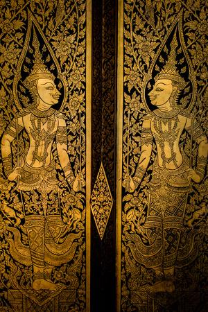 alte thailändische Malerei an der Wand in thailand Buddha-Tempel