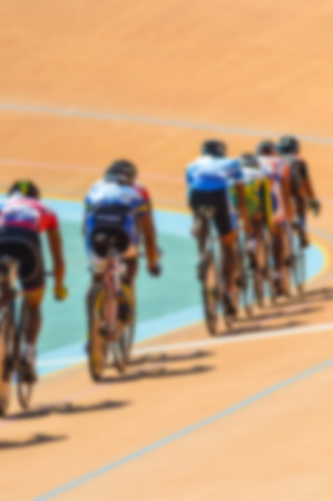 velodrome: Bike race on velodrome track blurry for background