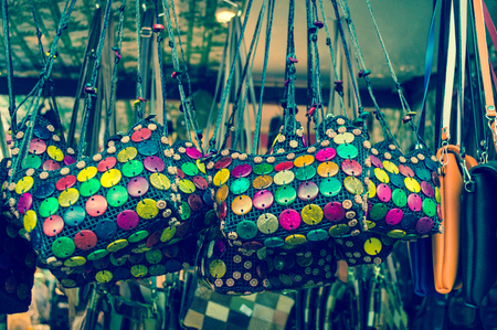 vintage handmade bag in chatuchak weekend market