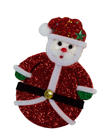 santa claus doll isolated on white background