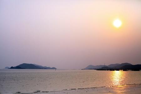 puesta de sol en Tailandia