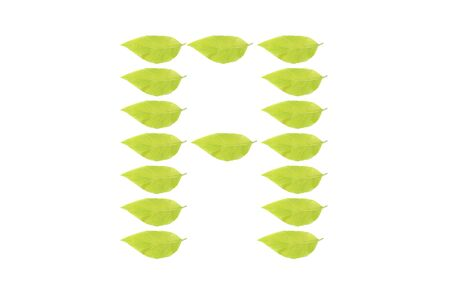A leaf character Stock Photo