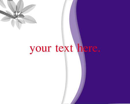 postal de fondo violeta