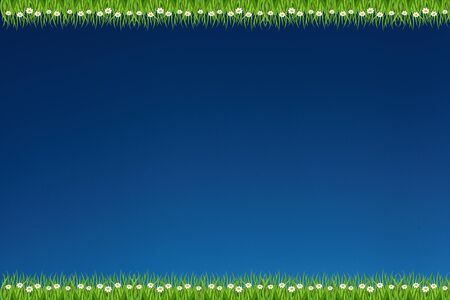 sky and grass 2 line background