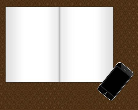 page notebook with smartphone Stock Photo - 13587220
