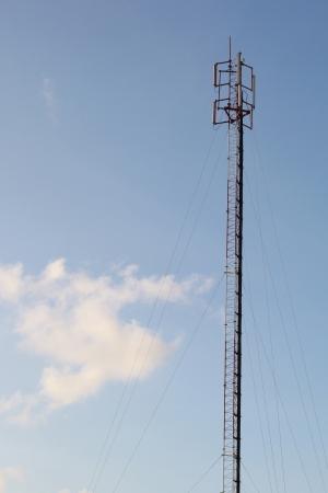 Antena en el cielo Foto de archivo