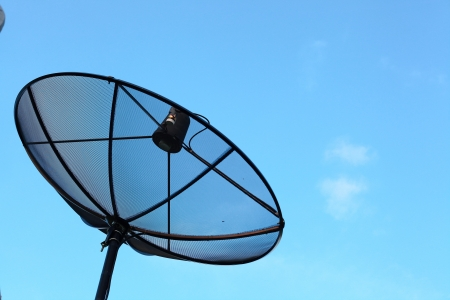 Antenna and sky background photo