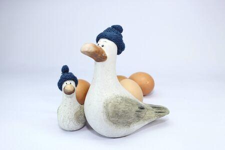 El pato y huevo