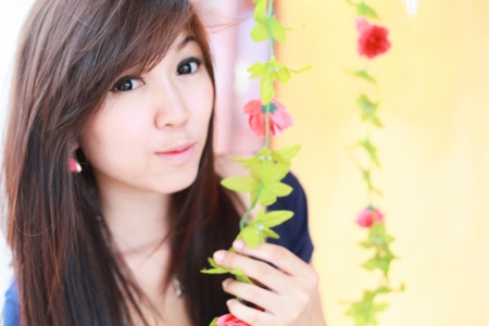 asian girl portrait  photo