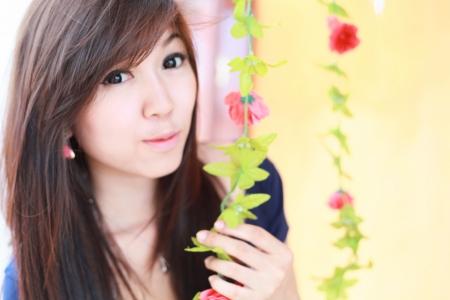 Retrato de muchacha asi�tica