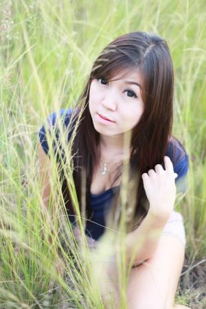 asian girl portrait in fairly