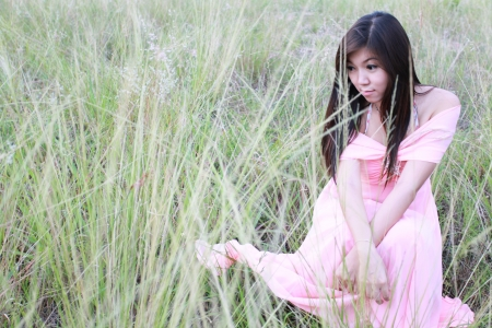 asian girl portrait in fairly 11 Stock Photo