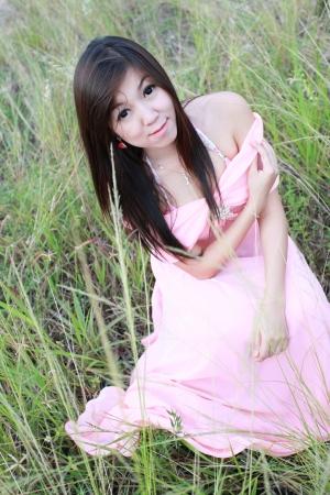 Retrato de muchacha asi�tica en la justa 13 Foto de archivo
