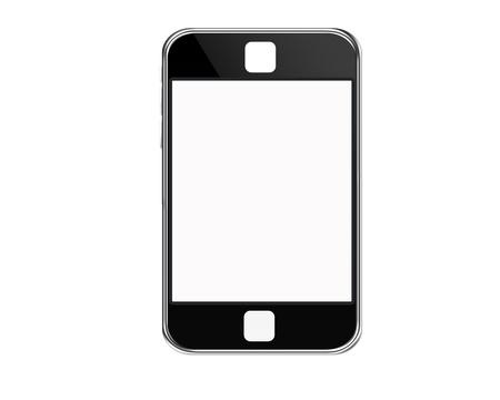 tel�fono m�vil con fondo aislar Foto de archivo