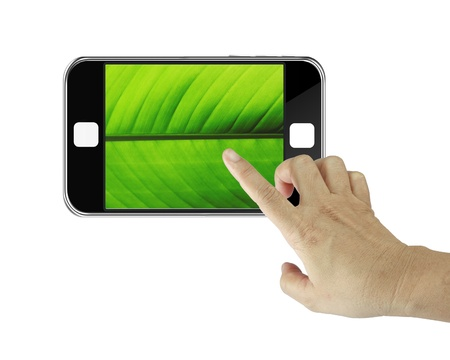 mobile phone with isolate background Stock Photo - 14717300