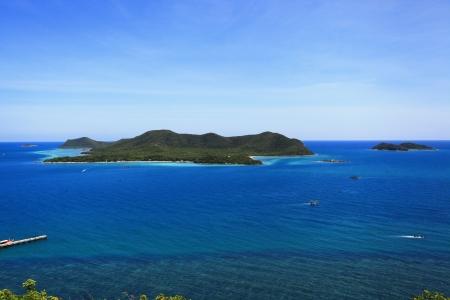 island on the blue sea Stock Photo