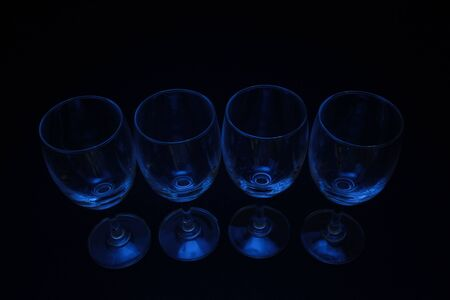 abstract blue lighting glass with black background