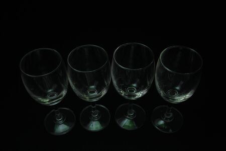 abstract  lighting glass with black background