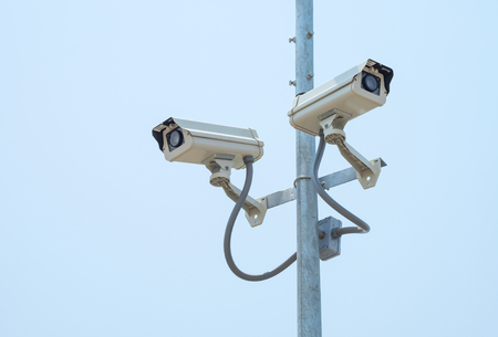 Security cameras or CCTV Stock Photo