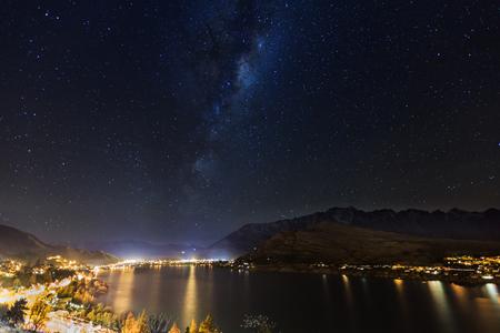 wakatipu: miky way above Lake Wakatipu, Queenstown, New Zealand
