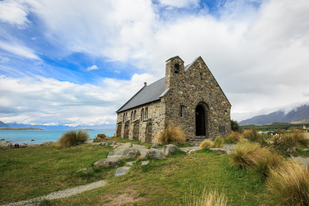 good shepherd: Situated on the shores of Lake Tekapo is the Church of the Good Shepherd, which, in 1935, was the first church built in the Mackenzie Basin.