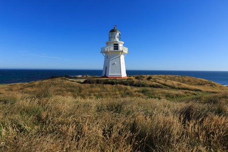 Historic Lighthouse at Waipapa Point, Catlins, New Zealand Stok Fotoğraf - 42522626