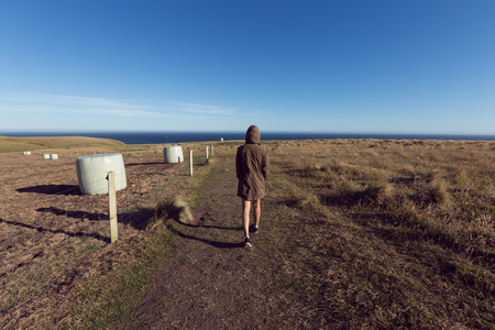 epic: Epic Landscape with small people. Slpoe Point, The Catlins, New Zealand