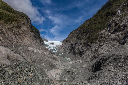 fox glacier: Franz Josef Glacier, New Zealand Stock Photo