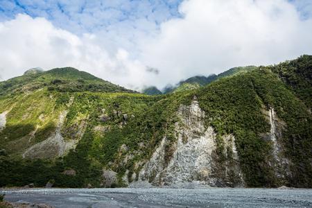 westland: Fox Glacier in Westland National Park, the West Coast  New Zealand Stock Photo
