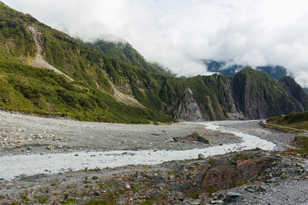 fox glacier: Fox Glacier in Westland National Park, the West Coast  New Zealand Stock Photo
