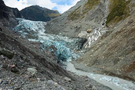 fox glacier: Fox Glacier in Westland National Park, the West Coast  New Zealand Stock Photo