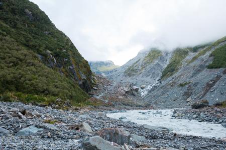 west  coast: Fox Glacier in Westland National Park, the West Coast  New Zealand Stock Photo