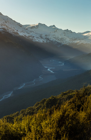 invincible: Mountain landscape in Glenorchy, New Zealand