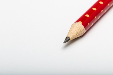 close up image: close up image of pencil on white paper Stock Photo