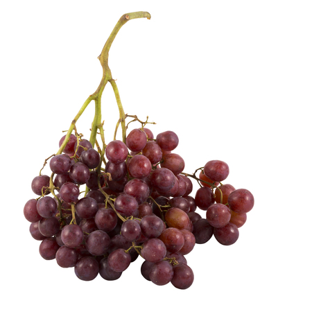 unwashed: Grape cluster isolated on white