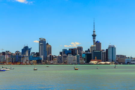Auckland cityscape, North Island, New Zealand Standard-Bild