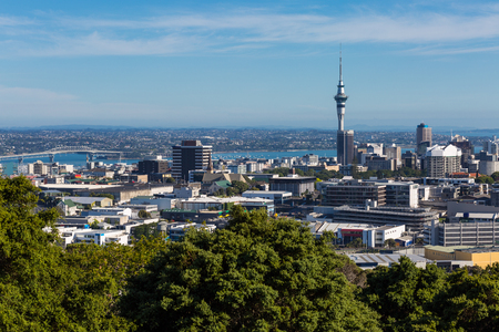 Auckland cityscape, North Island, New Zealand Stok Fotoğraf
