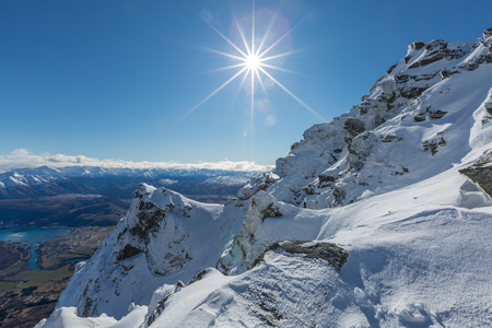 View from top of the Remarkbles Mountain, Queenstown, New Zealand Stok Fotoğraf - 44358566