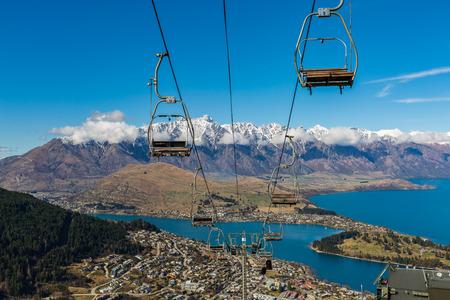 Queenstown overlook from top of Skyline Gondola, New Zealand Stock fotó