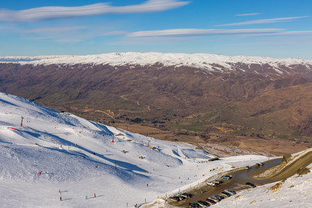 Ski Area: View of Cadrona Ski Area Queenstown New Zealand